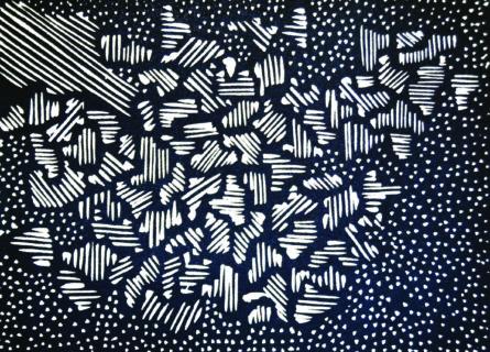 David Tsoka, All in forms II, Linocut, 2015