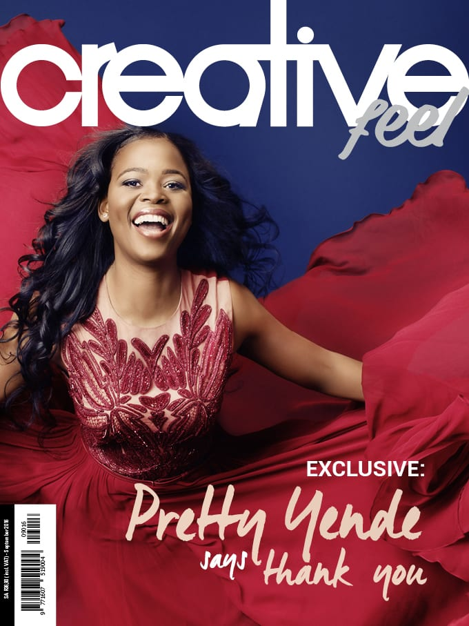 Creative Feel's September 2016 Cover features Opera Star Pretty Yende