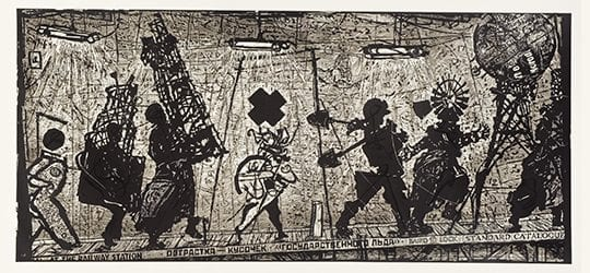 William Kentridge, Eight Figures, 2010