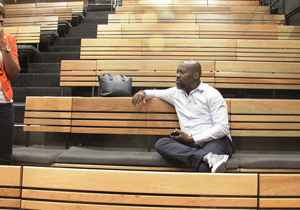 James Ngcobo at rehearsals of the Market Theatre's Songs from Jazz Town