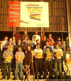 13th Unisa International Piano Competition competitors