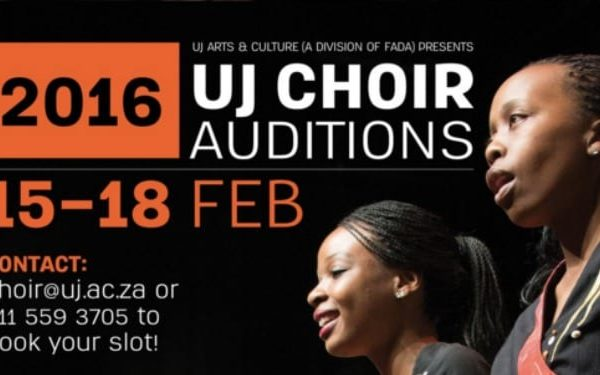 Audition for UJ's 2016 Choir