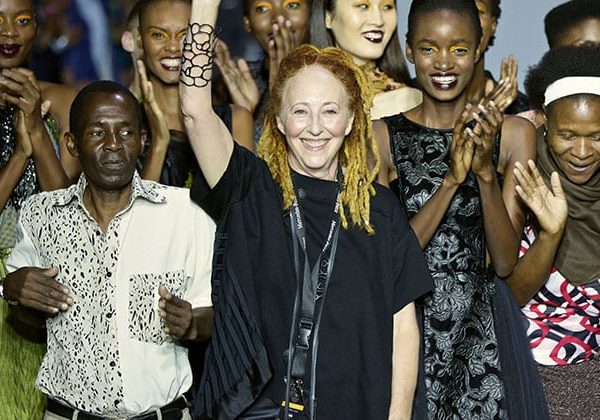 Marianne Fassler and Leopard Frock