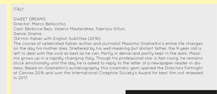 Film Festival Italy