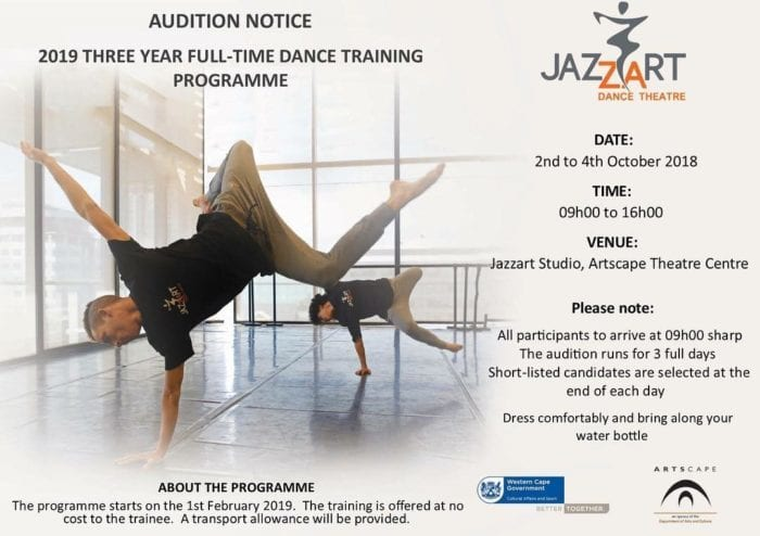 Audition Notice: Jazzart Dance Theatre Training Programme | Creative