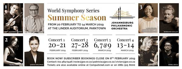 Johannesburg Philharmonic Orchestra Symphony concert music