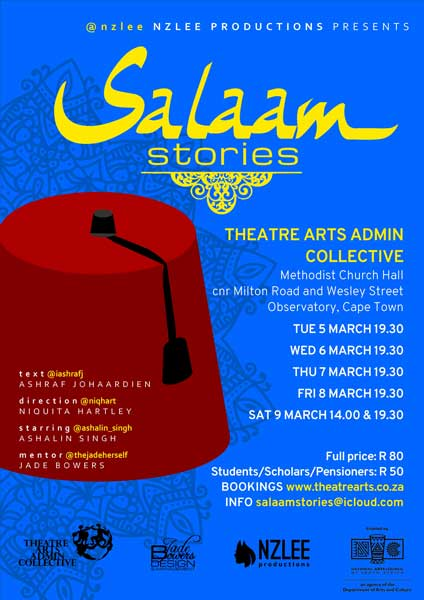 Salaam Stories Ashraf Johaardien theatre