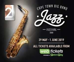 Cape Town Big Band Jazz Festival 2019 300×250