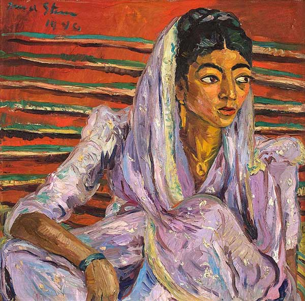 Strauss & Co art auction world record Irma Stern Mauve Sari