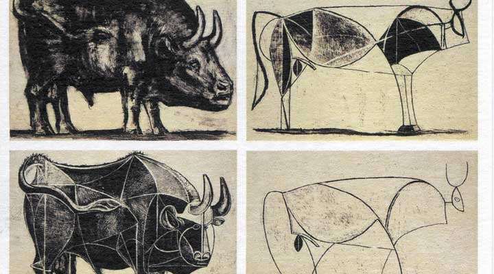 Object #welove Pablo Picasso The Bull 1945-46 cubism art