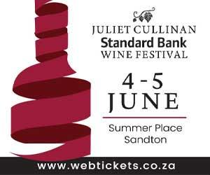 29th Juliet Cullinan Standard Bank Wine Festival 300 x 250