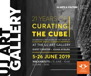 UJ Art Gallery 21 Years of Curating the Cube 300 x 250