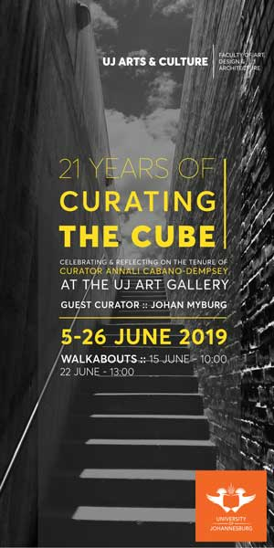 UJ Art Gallery 21 Years of Curating the Cube 300 x 600