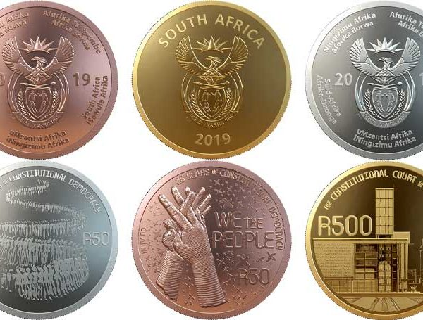 SA South African Mint coins constitution democracy