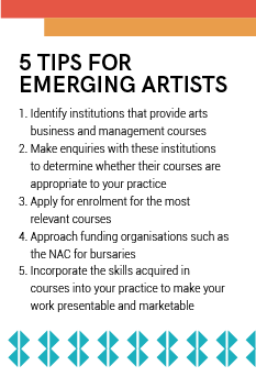 Julie Diphofa National Arts Council tips emerging artists
