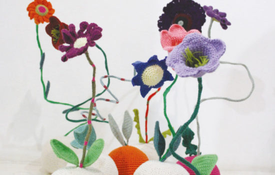 Crochet colourful flowers Kim Sachs Projekt South African