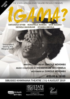 Igama? women's month day play theatre stage production South Africa Slindile Mthembu