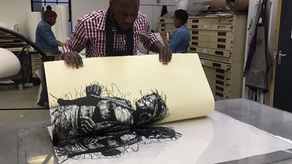 Artist Proof Studio FNB Art Joburg Cromwell Ngobeni