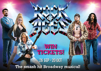 Win tickets Rock of Ages South Africa Montecasino Teatro theatre glamour-rock musical