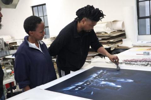 Artist Proof Studio FNB Art Joburg Themba Khumalo Pontsho Sikhosana