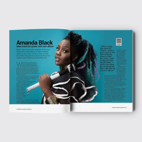 Creative Feel music issue publication magazine Amanda Black