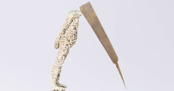 Nkhensani Rihlampfu bronze sculpture rope wood