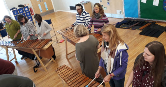 Marimba Workshop interactive team building sessions year end specials African instruments