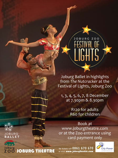 Joburg Zoo Festival of Lights and night market Joburg Ballet The Nutcracker