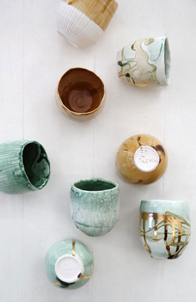 Espresso cups by Zizipho Poswa of Imiso Ceramics in collaboration with The Trenery Guild
