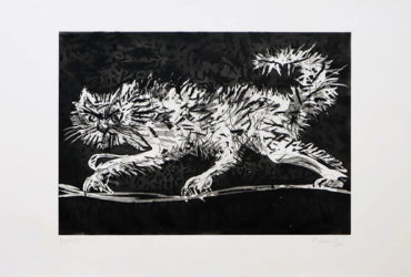 Another Cat William Kentridge print Artist Proof Studio Cape Town Art Fair 2020