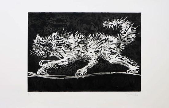 Another Cat William Kentridge print Artist Proof Studio Cape Town Art Fair 2020