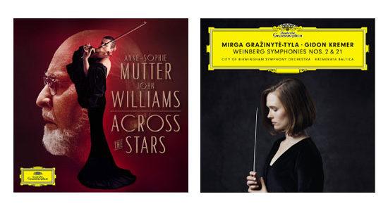 Across the Stars Ann-Sophie Mutter John Williams Deutsche Grammophon Weinberg Symphonies Nos. 2 & 21