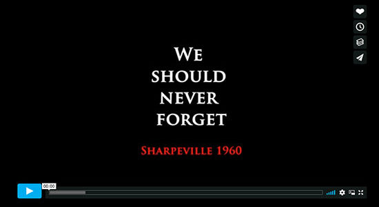 Sharpville Massacre movie film short commemorate