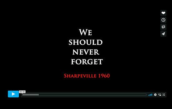 Sharpville Massacre movie film short commemorate