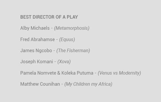 Naledi Theatre Awards 2020 nominees