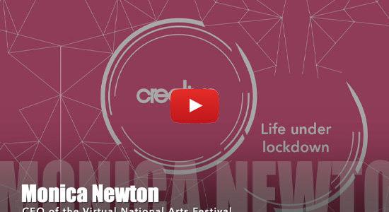 Monica Virtual Newton National Arts Festival NAF Life Under Lockdown video interview