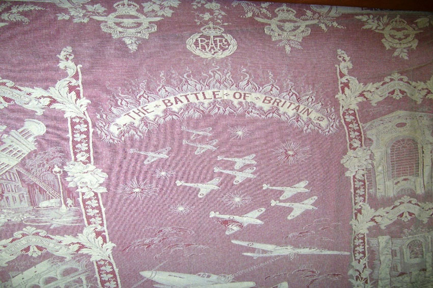 Battle of Britain tapestry piece of lace