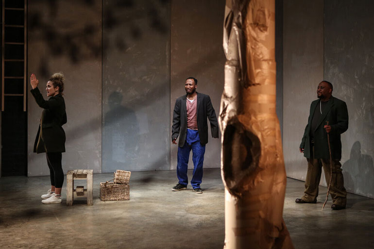 Centre for the Less Good Idea Waiting for Godot cast Stefania du Toit Billy Langa Tony Miyambo