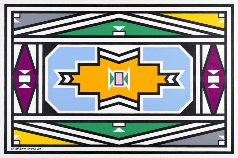 Esther Mahlangu 85 Melrose Gallery exhibition