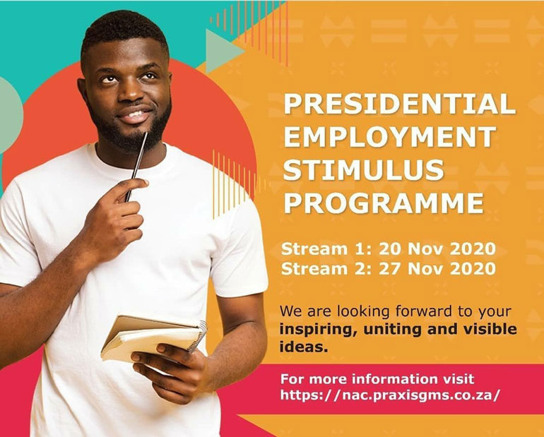 Presidential Employment Stimulus Programme NAC call for entires