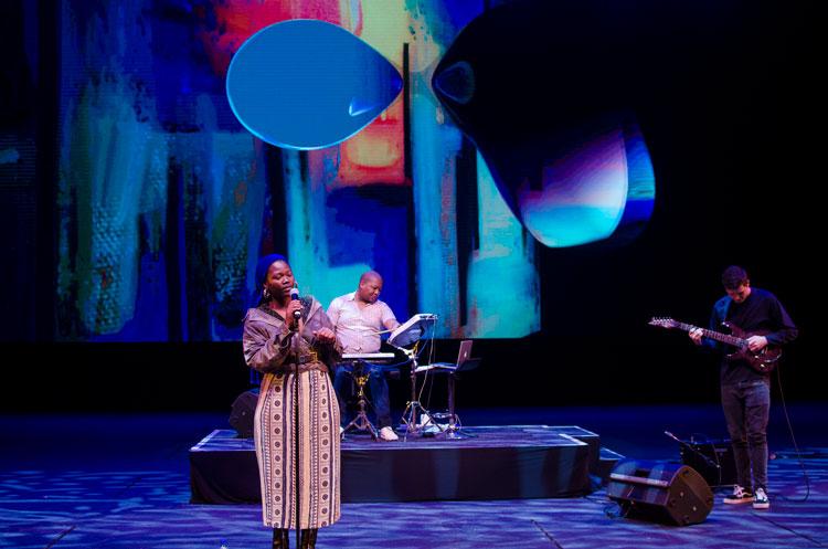 South African singer Nipho Hurd concert