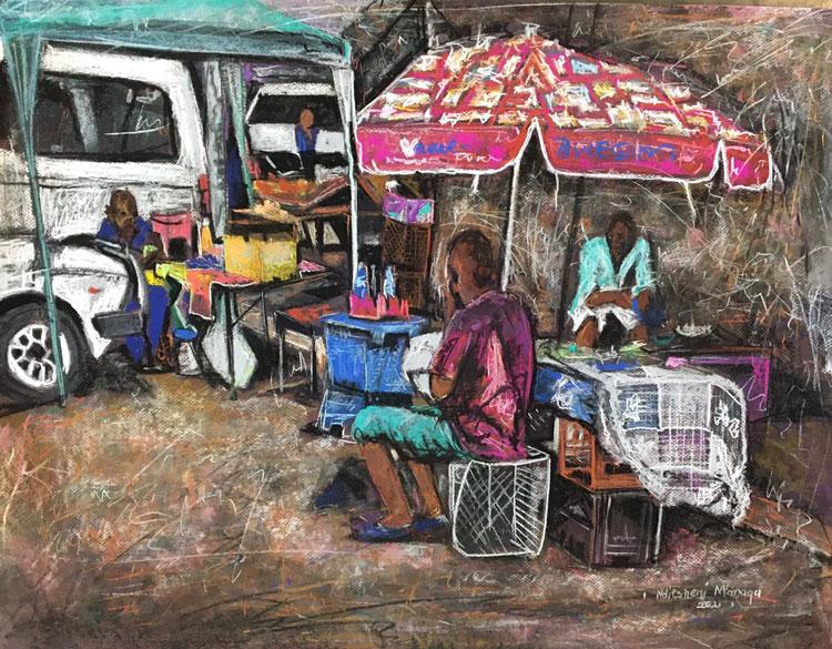 Nditsheni Managa solo exhibition NWU Gallery