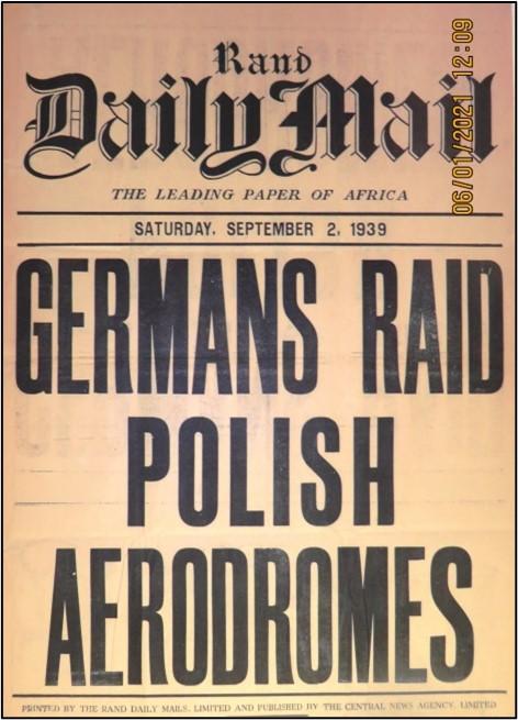 newspaper from WW2