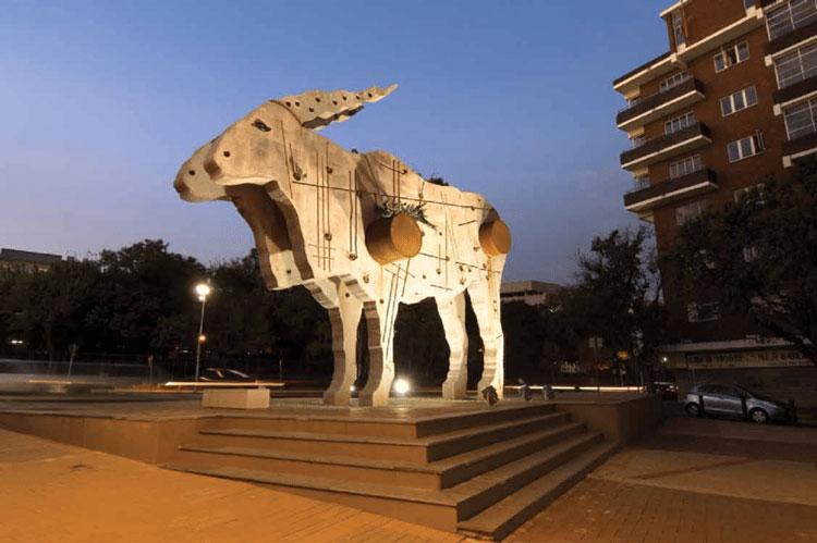 Eland sculpture Joburg