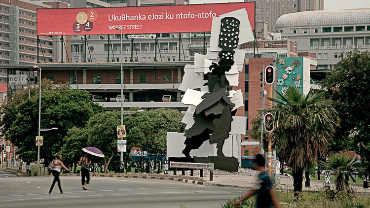 Fire Walker sculpture Joburg