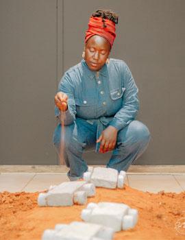 Helena Uambembe PIM PAM PUM exhibition NWU Gallery