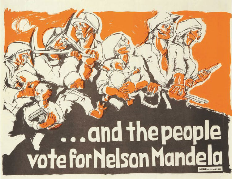 poster And the People Vote for Nelson Mandela